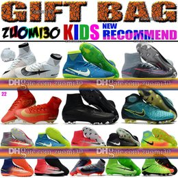 Wholesale Shoes Kid Men - High Top Women Men Kids Neymar Soccer Shoes Mercurial Superfly V CR7 FG AG Football Boots Ronaldo Indoor TF Youth Magista Obra Soccer Cleats
