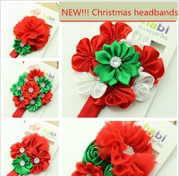 Wholesale Flower Plants For Sale - New Christmas headband baby hair accessories Daisy headbands rose flower hair band for girls 5 colors on sale