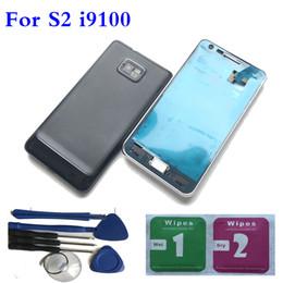 NOUVEAU couvercle de porte de batterie de logement plein + outils pour Samsung Galaxy S2 i9100 noir / blanc ? partir de fabricateur