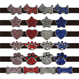 Wholesale 100pcs Mixed order mm Rhinestone Dog Pet Cat Charms DIY slider Leave message for details charms