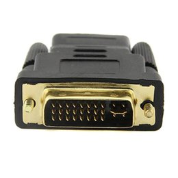 Wholesale Hdmi Pin - DVI-I 24+5 Pin Male To HDMI Female 19 Pin Adapter DVI to HDMI Converter for LCD LED Full HD 1080P PS3 PS4 XBOX HDTV BLURAY V1.4 H.265 4K
