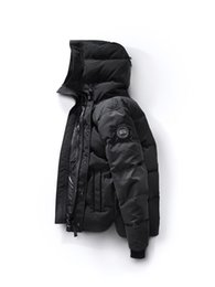 Wholesale Men S Goose Down Coats - 2018 Canada New Arrival sale men's Down parka Macmillan Black Navy Gray Jacket Winter Coat  Parka Fur sale With Free Shipping Outlet