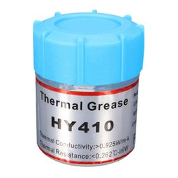 Wholesale Thermal Paste Wholesale - Wholesale- HY410 10g White Thermal Conductive Grease Silicone Paste for CPU GPU Cool