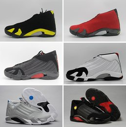 Wholesale Cheap Ups Shipped Shoes - Free shipping 2016 cheap air retro 14 basketball shoes Varsity red thunder sport sneaker shoes last shot suede online sale size 8-13
