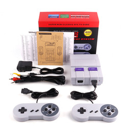 Wholesale Wi Fi Tv Box - Newest Super Mini Classic SFC Mini TV Handheld Game Console Video For Nes SNES Games with 400 Built-in Games Engilsh Retail Box DHL