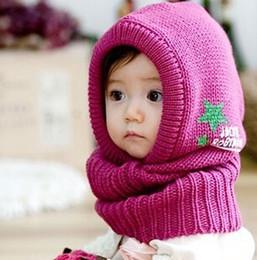 Wholesale Wholesale Wool Hats Gloves - Wholesale-Winter star burst models baby Siamese Children's hats scarves hats wool cap one