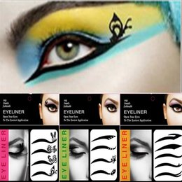 Wholesale Eyeliner Sticker Ship - 4 or 5 pairs set New Fashion Sexy Make Up Eyeliner Tattoo Black Eyeliner Shadow Sticker Smoky Eyes Temporary Tattoos Free Shipping