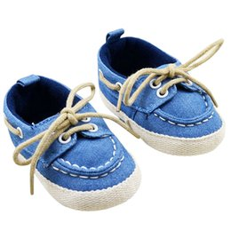 Wholesale Baby Crochet Shoes Sneakers - Toddler First Walkers Cotton Canvas Shoes Infant Sneaker Soft Bottom Baby Crib Shoes