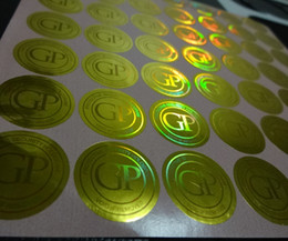 Wholesale Custom Print Design - Free design&3D color changing ! Secure custom hologram label sticker printing,can be with serial unique number ,and scratch off coating