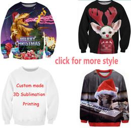 Nouveau Mode Couples Hommes Femmes Unisexe Joyeux Noël 3D Imprimer Hoodies Pulls Sweat Veste Pull Top S-6XL W5 ? partir de fabricateur