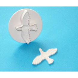Wholesale Chocolate Birds - Anself 3Pcs Bird Pattern Cake Mold Fondant Lovely Cake Biscuit Cookie Chocolate Jelly Decorating Mould Cutter Mini Cooking Tool