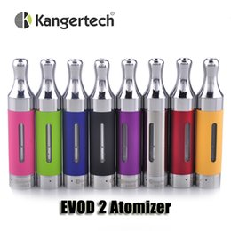 Wholesale Ego Rebuildable - 100% Original Kanger EVOD 2 atomizer 1.8ml Upgated Rebuildable Atomizer BDC Tank for ego thread battery