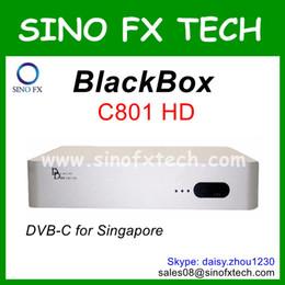 Wholesale Tv Box Receiver Singapore - Wholesale Singapore Cable receiver Blackbox C801 HD Singapore cable TV receiver DVB-C set top box Blackbox c801