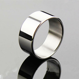 Wholesale Penis Sleeves Toy - The Sleeves Cock Ring 26 28 30mm Stainless Steel Delay Ejaculation Penis Ring Male Sex Ring Delay Cockring Sex Toys for Men G7-1-31