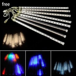 Wholesale Garden Solar Light Animal - New LED Strings Light 20CM 30CM 50CM Meteor Shower Rain Tubes LED Meteor Lights 8pcs LED Light Christmas Light Wedding Garden Decoration