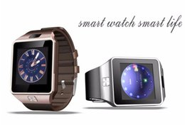 Wholesale Wristband For Mobile Phone - DZ09 Smart Watch Dz09 Watches Wristband Android iPhone Watch Smart SIM Intelligent Mobile Phone Sleep State Smart watch
