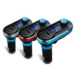 Wholesale Cars Amplifier - Wireless Car FM transmitter 2.1A Dual USB Car Charger BT66 MP3 Player Car Kit Free shipping