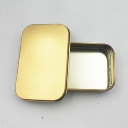 Wholesale Select Cases - 400pcs lot Tin Container Storage Box Metal rectangle for beads business card candy herbs Case Box 2 colors select