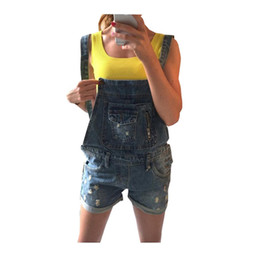 Wholesale Cheap Playsuits - Summer Style 2015 Cheap Clothes China Denim Jeans Women Jumpsuit Sexy Hot Playsuits and Bodysuits Macacao Feminino Curto