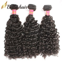 Wholesale Queens Hair Products Malaysian - Malaysian Curly Hair Virgin Hair Queen Hair Products Human HairExtensions Natural Color Hair Weaves 3pcs lot Bella Hair DHL Free Shipping
