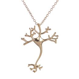 Wholesale Hippie Pendants - 10pcs 2016 New Fashion Science Jewelry Hippie Chic Neuron Brain Nerve Cell Necklace Colar Boho Neuron Necklaces Ladies Fashion Neclace XL197