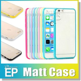Wholesale Mats For Pc - For samsung Iphone 7 6s Case Mat PC+TPU hard Clear Transparent Gel Cover Cases For Iphone 6 Plus IPHONE 5 5S Galaxy S5 S6 S6edge Note 3
