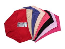 Wholesale Bamboo Panties - New plus size women underwear 95%bamboo fiber briefs excellent quality knickers high waist everyday panties 6pcs lot XXL(2XL)