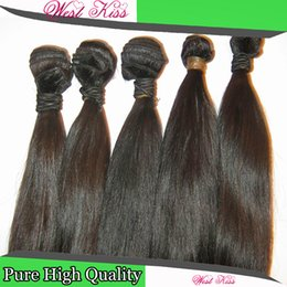 mustermodellierung Rabatt Westkiss 8A reine gute Probe Haarprodukte Malaysian gerade 3pcs / lot 300g Fabulous Romantic neuesten Modell