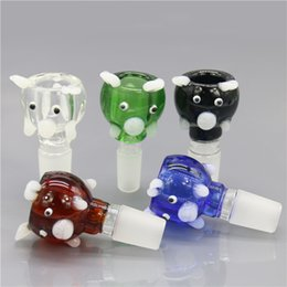 Wholesale Pig Bowl - Smoking Dogo 2016 New Arrival Glass Honey Pig Shape Bowls Animal Shape Smoking Bowls 14.4mm 18.8mm Male Joint Bowls for Bongs