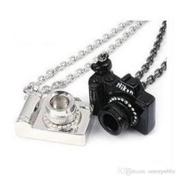 Wholesale Vintage Camera Jewelry - Vintage Jewelry Camera Necklaces Pendants Hot Sale Enamel Lovely Fashion Designer Bijoux Set auger camera sweater chain free shipping 01320