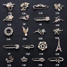 MLJY spilla di cristallo 20 stili grandi spille femminili vintage e spille per le donne collare spille distintivo fiore oro argento spilla gioielli da