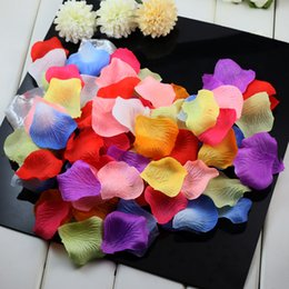 Wholesale Doctor Sexy - 1500pcs fabric rose petals flower petal wedding favors party decoration color Red   White   Black   Pink   Blue   Green 15bags=1500pcs