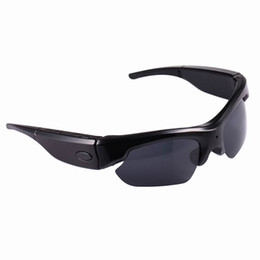 Wholesale Hd Spy Sport Glasses Camera - Factory sale Sport camera spy Sunglasess Camera Full HD 1080P Hidden Camera Mini voice recorder Bluetooth Smart glasses for Smart phones