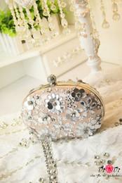 sacchetto di spalla fiorito Sconti 2015 pacchetto diamante caldo di vendita borsa damigella d'onore di cristallo fiori di sole diamante sequined partito prom borsa borse a tracolla petalo singolo cinturino