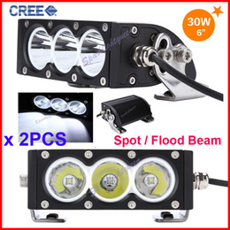 "Wholesale cree offroad lights - 2PCS 6"" 30W CREE 3LED*10W Driving Work Light Bar Clear Lens White Offroad SUV ATV 4WD 4x4 Spot   Flood Beam 3000lm 9-32V IP67 Fog Headlamp"