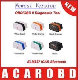 Wholesale Code Vgate Bluetooth - 2015 Newest Vgate iCar 2 Bluetooth Version ELM327 OBD2 Code Reader iCar2 for Android  PC Orange White (Six Color to choose)
