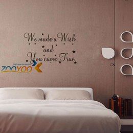 Wholesale Made Wish Sticker - We Made A Wish And You Came True wall decals ZooYoo8137 decorative adesivo de parede removable vinyl wall stickers