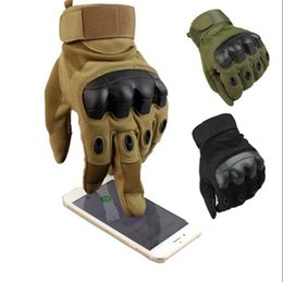 Wholesale Shooting Sports Wholesale - Touch Screen Tactical Hard Knuckle Gloves Army Military Hunting Shooting Combat Gloves Outdoor Sports Cycling Bicycle Gloves OOA3780