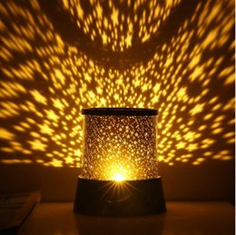 Wholesale Sky Projection Lamp - LED Star Projector Light Romantic Luminous Starry Sky Night Lamp Round Plastic Mini Projection Lights High Quality 3 7ms B R