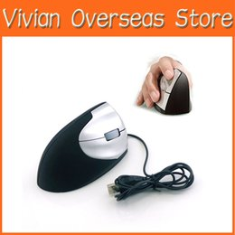 Wholesale Usb Laptop Accessories - Wholesale-Professional Mouse USB Optical Ergonomic Vertical Wired Mouse Mice Showcase Comfort 1600 DPI Accessories For Computer PC Laptop