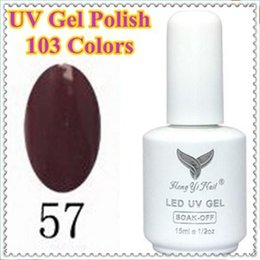 Wholesale Hot Glue Nails - Wholesale-(NO. 057) Hot Sale 2015 New 15ml Soak off Nail Art UV Gel Polish 103 COLOR Lacquer Long Lasting Glue