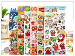 2019 impressão de adesivo de vinil 2016 nova MW série de Natal Q versão da bolha dos desenhos animados de algodão tridimensionais adesivos decorativos, 6 design escolher