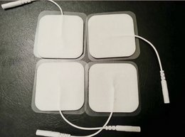 Wholesale Electrode Reusable - 30pcs lot 4*4cm Adhesive gel Long Life Self Reusable Foam Replacement Electrode pads for TENS EMS Compex, Empi Omron