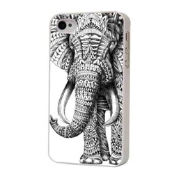 Wholesale Iphone 4s Aztec Covers - Wholesale Aztec Elephant White Side Hard Plastic Mobile Phone Case Cover For iPhone 4 4S 5 5S 5C 6