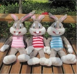 Wholesale Bugs Bunny Christmas - Bugs Bunny Bean Stuffed Plush Animals Toys Children Gifts Rabbit Easter Vest Plush Warner Bros Studio Looney Tunes Rabbits Toy