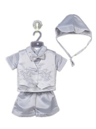Wholesale Party Clothes For Boys - Wholesale-New original newborn baby boy clothing set baptism christening party wedding for 0-2T baby bodysuits wear 70684