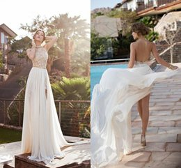 Wholesale Square Neck Line Prom Dress - 2015 Hot Cheap Luxury Under 100 Prom Party Dresses Sleeveless High Neck Wed Gowns Backelss Split Side Evening Wedding Sexy Women Prom Dress