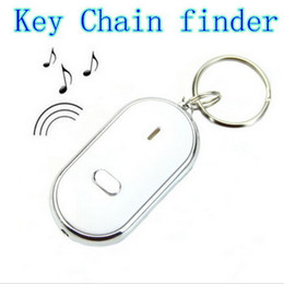 Wholesale Whistle Finder - Free Shipping Brand New LED Key Finder Locator Find Lost Keys Chain Keychain Whistle Sound Control