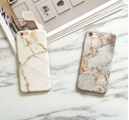 Wholesale Luxury Chrome Case - Marble Chrome Case for iPhone 7 Case Silicone Luxury Marble Cover for iPhone X 7Plus 6s 6 Plus 8 TPU Phone Bag