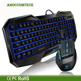 Wholesale Aula Gaming - Wholesale-AULA The Soul Killing Professional Gaming Wired Keyboard + Backlight Cool Monieering Mouse For WCG Game Laptop Computer PC